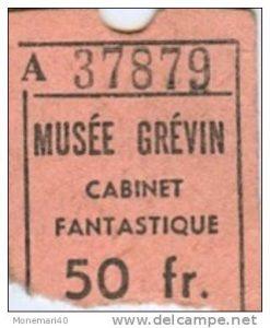 Biglietto per il Cabinet Fantastique