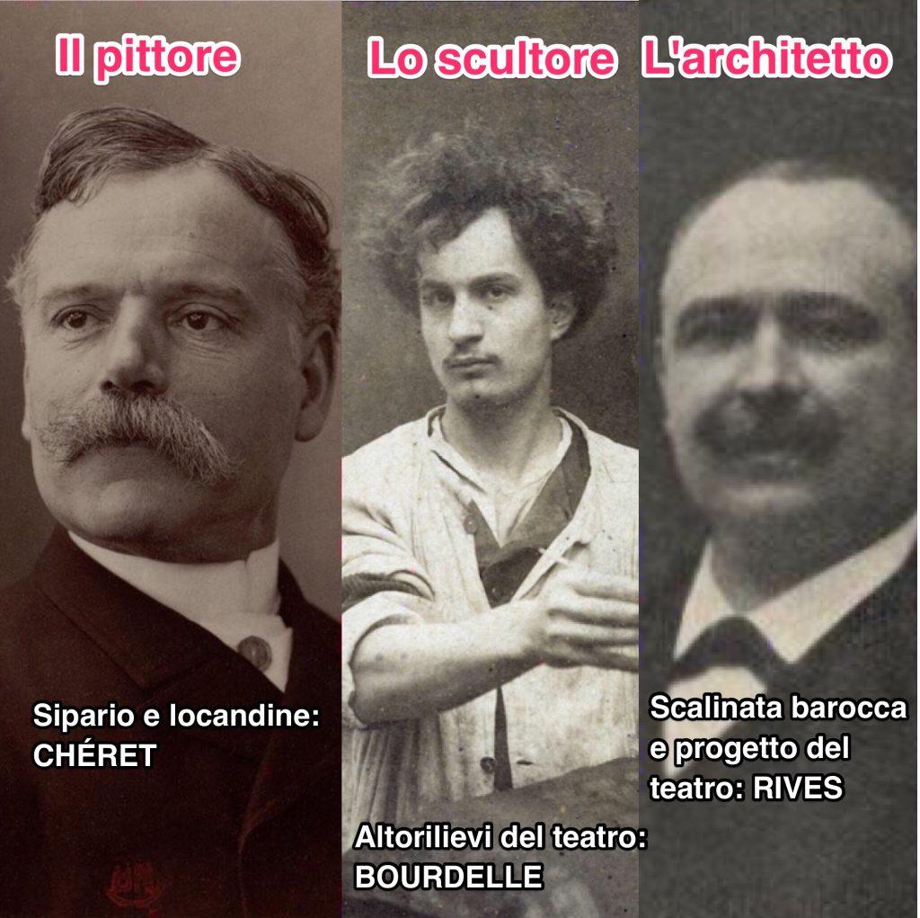 Jules Chéret, Antoine Bourdelle, Gustave Rives