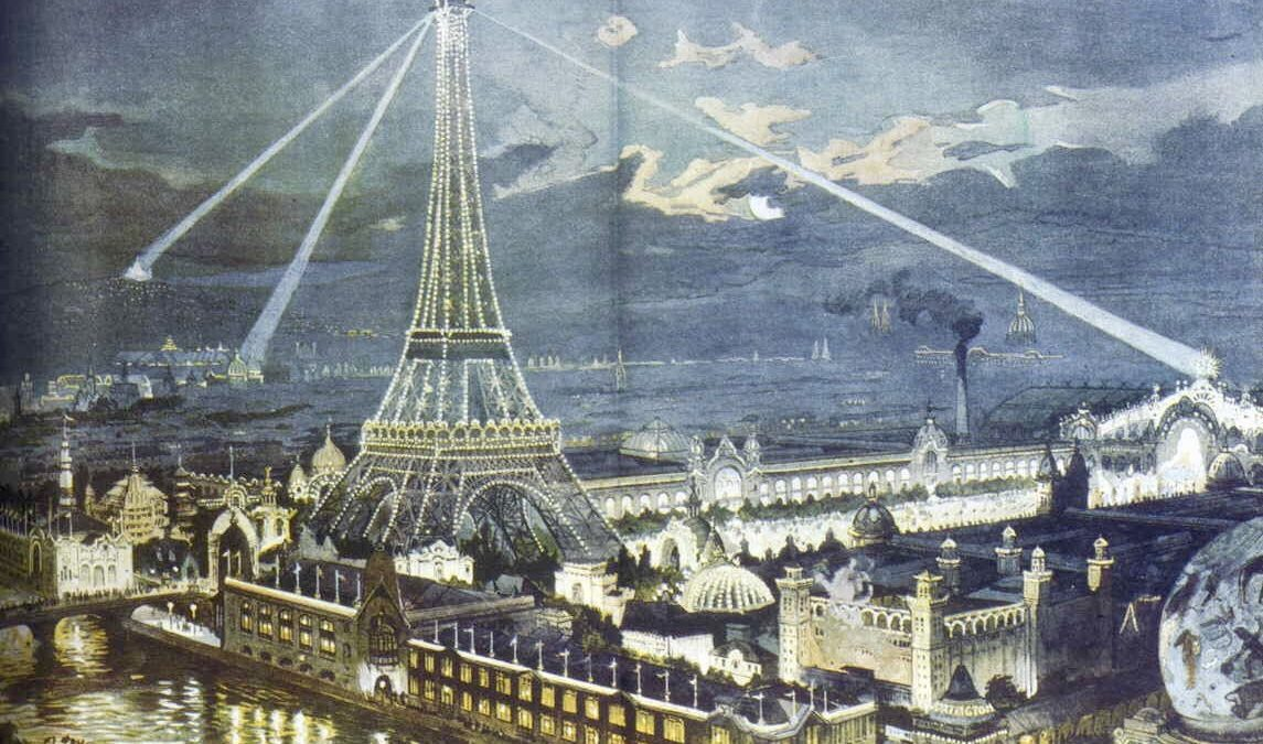 Expo 1900 by night