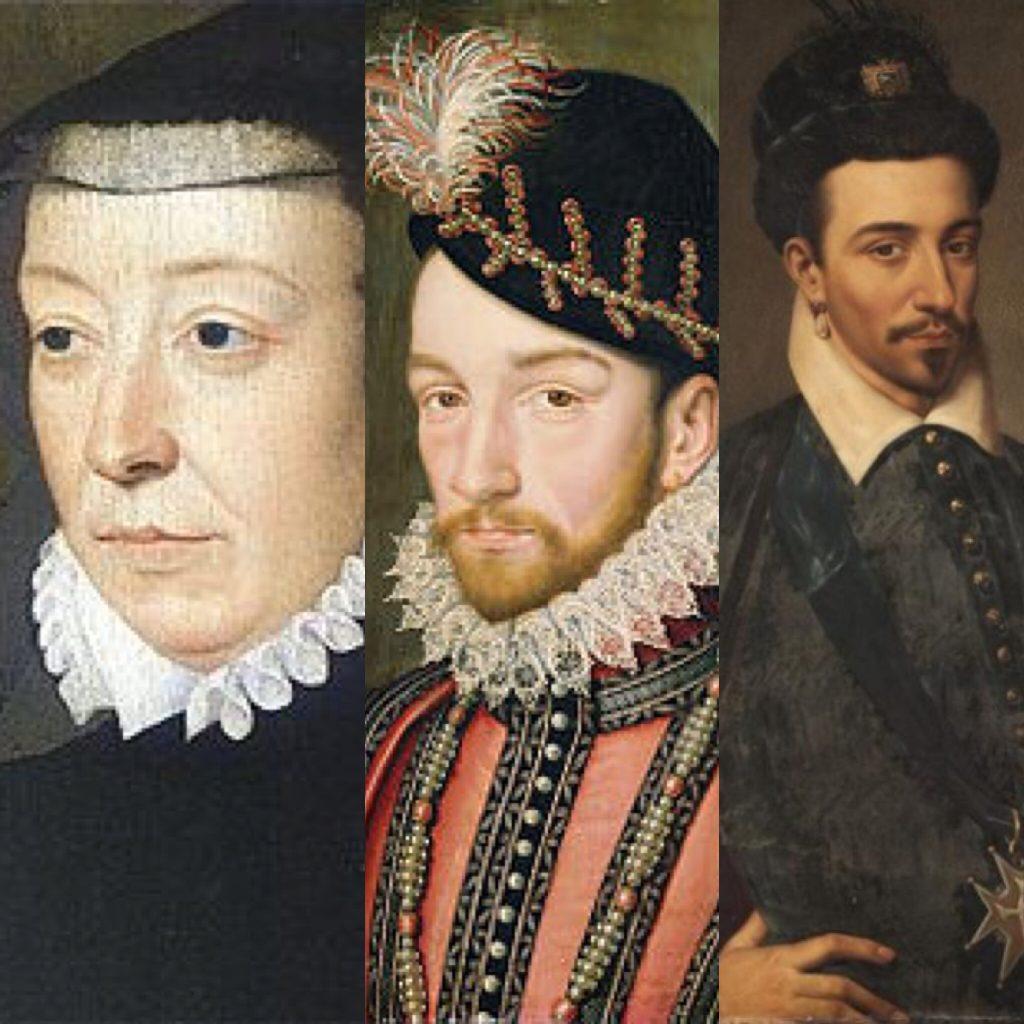 Caterina de Medici, Charles IX e Henri III