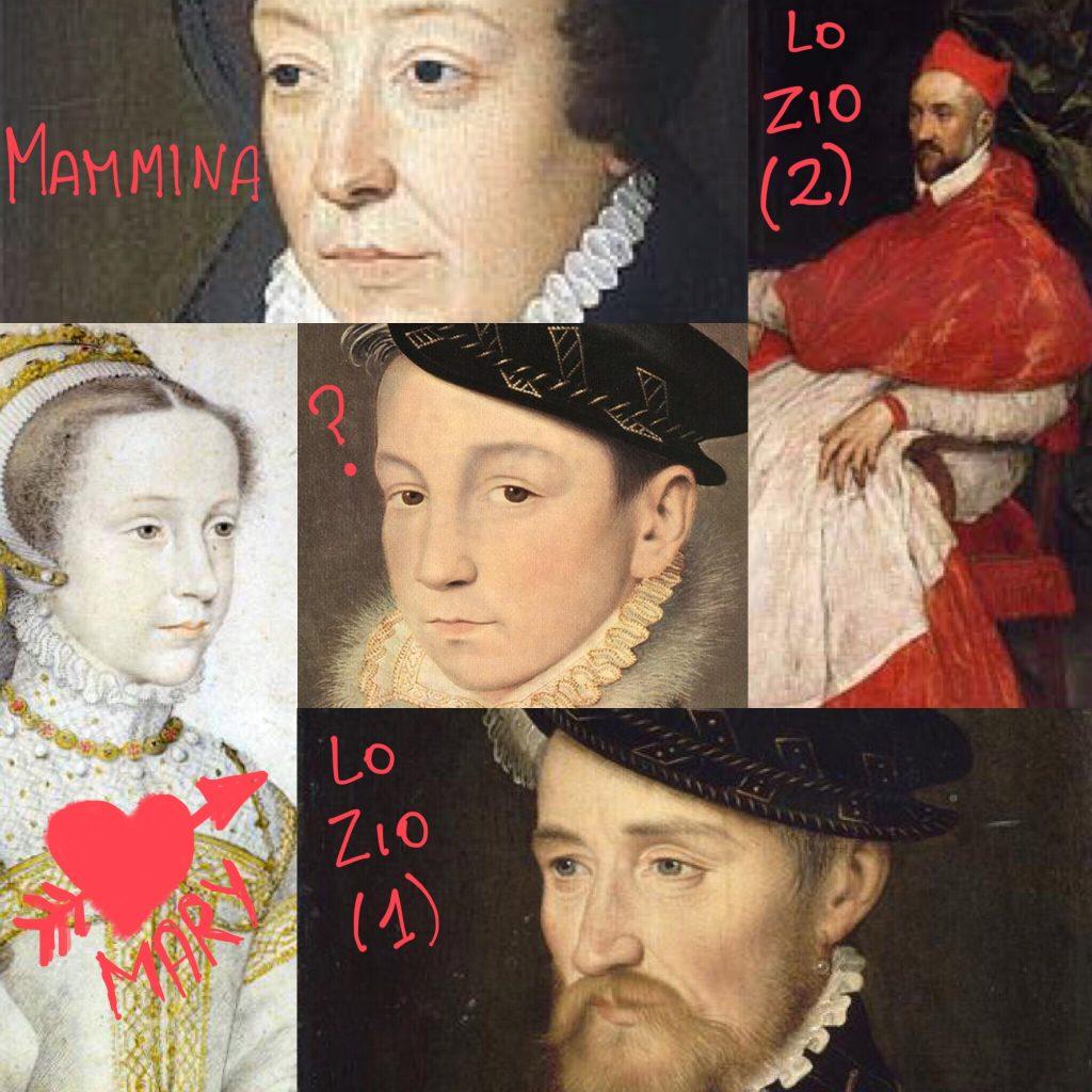 François II (Francesco II), Mary Stuart, Caterina de Medici e i Guise