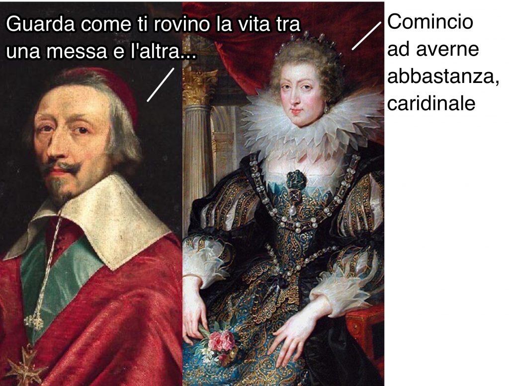 Il cardinale Richelieu e la regina Anna d'Austria