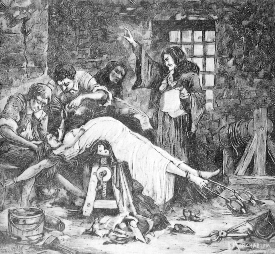 La marchesa di Brinvilliers sotto tortura