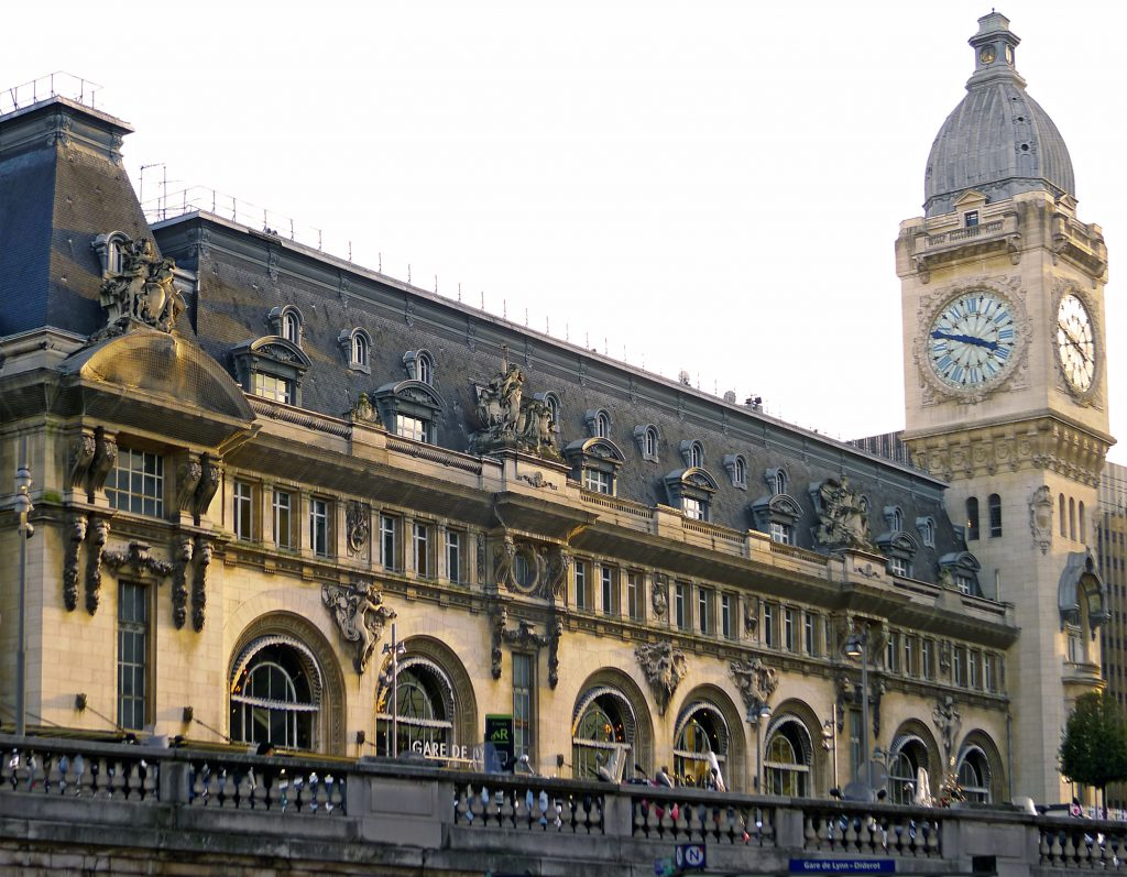 La facciata della Gare de Lyon