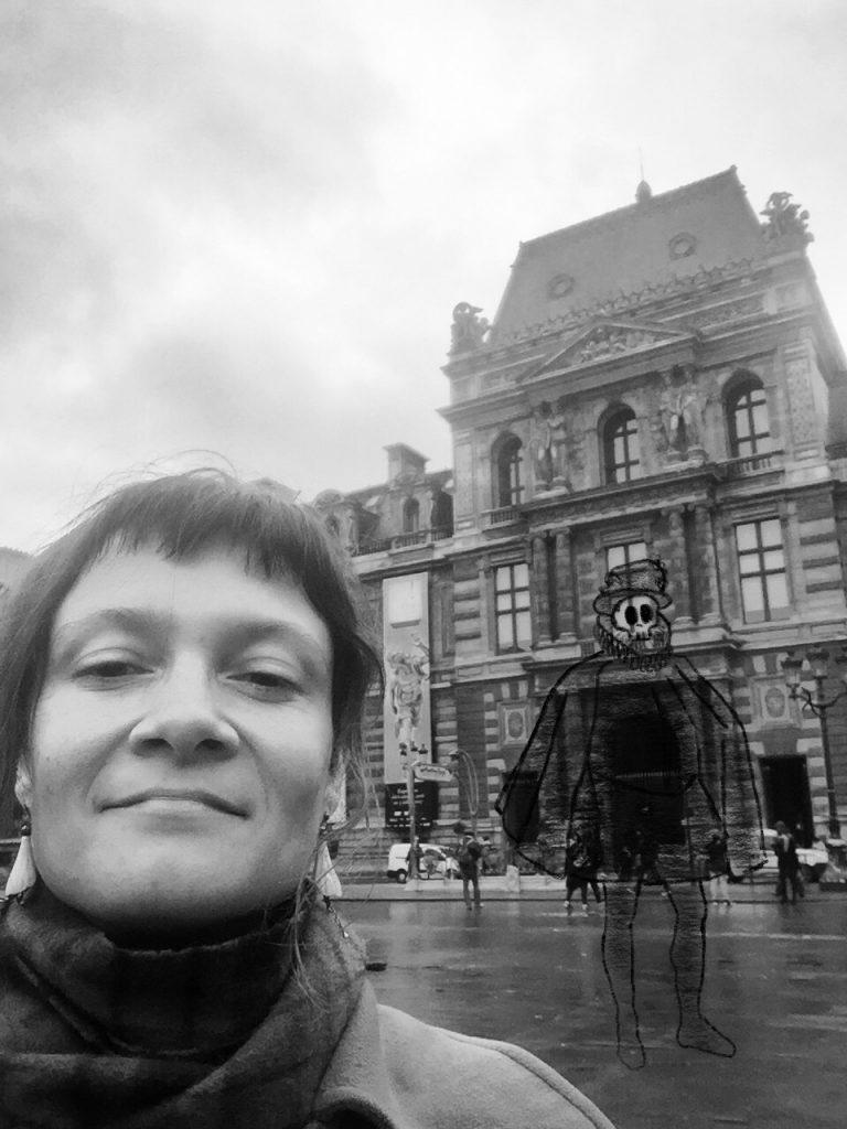 Io e il Louvre con fantasma