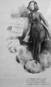 Caricatura di George Sand