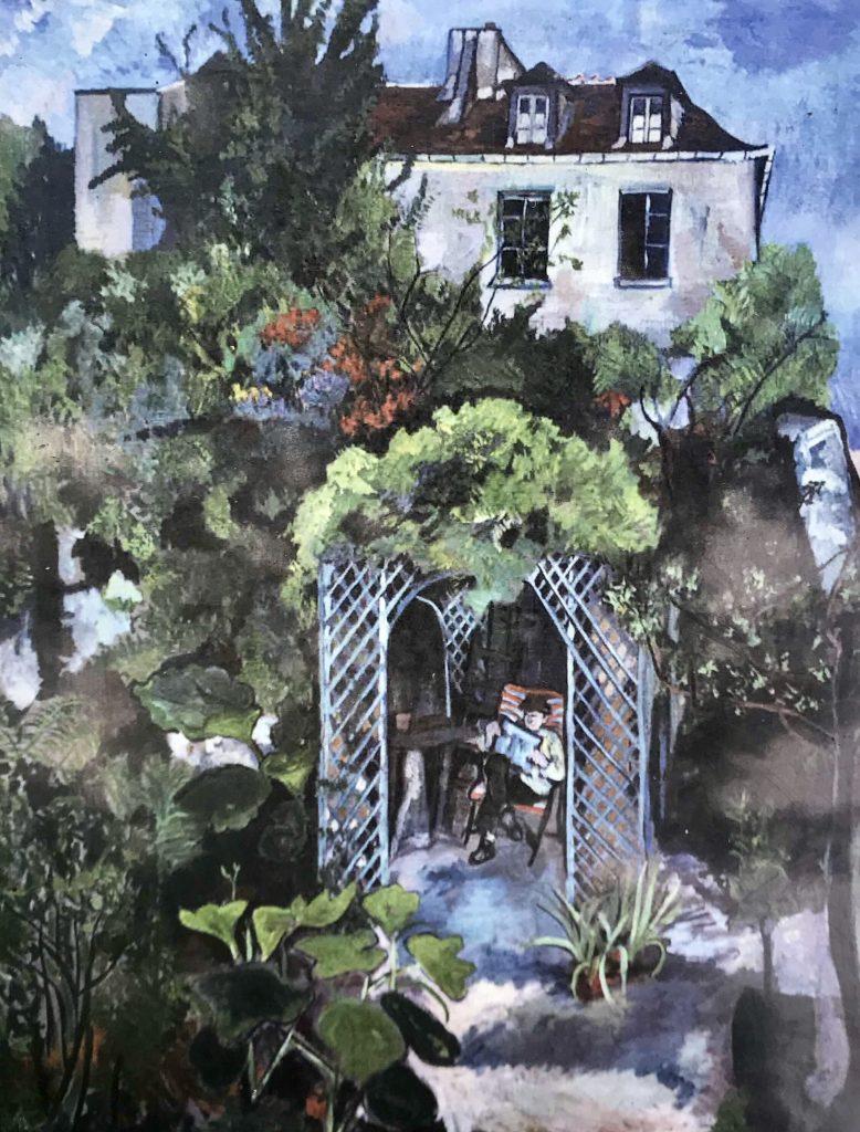 André Utter nel giardino
