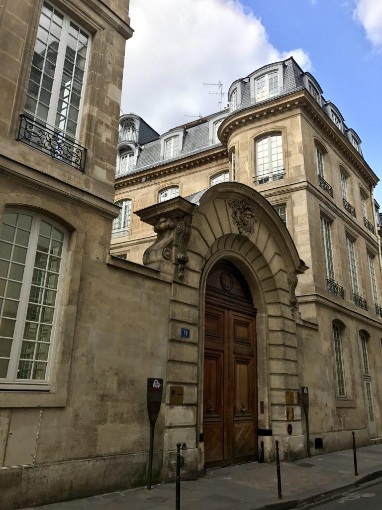 Ingresso Hôtel de Montmor