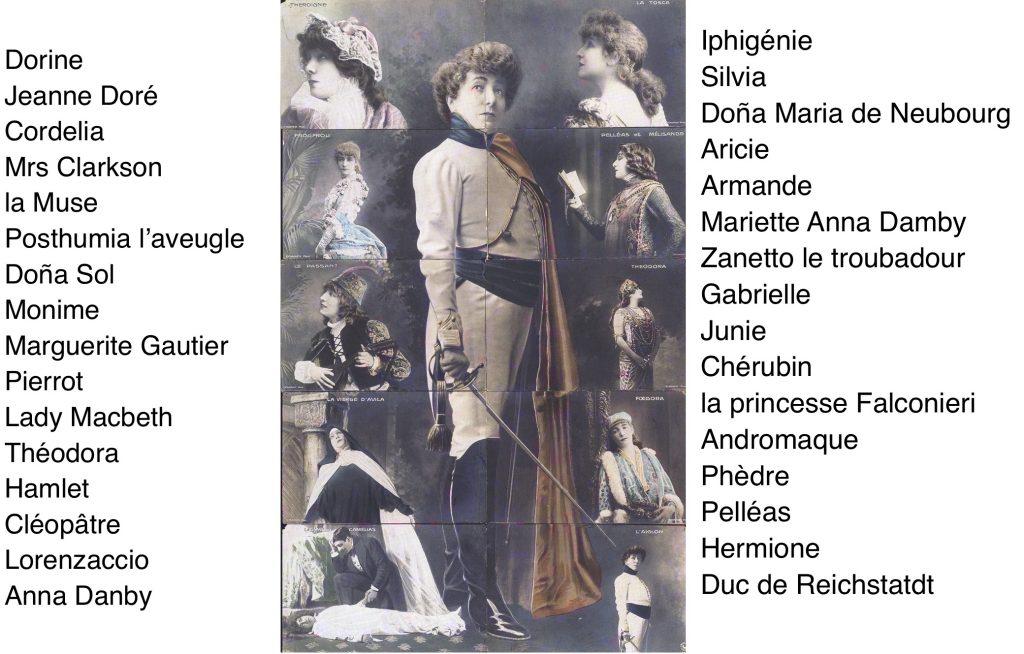 Sarah Bernhardt e ruoli