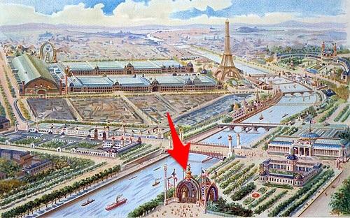 Vista Parigi, porta monumentale