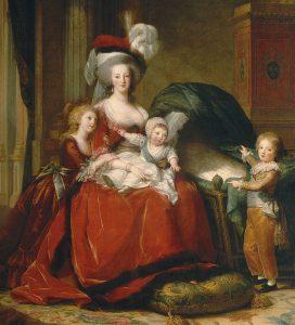 Marie-Antoinette in abito all'inglese