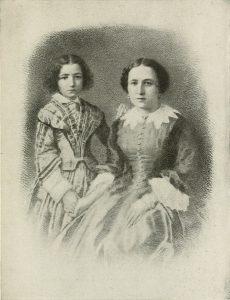 Sarah Bernhardt con sua madre