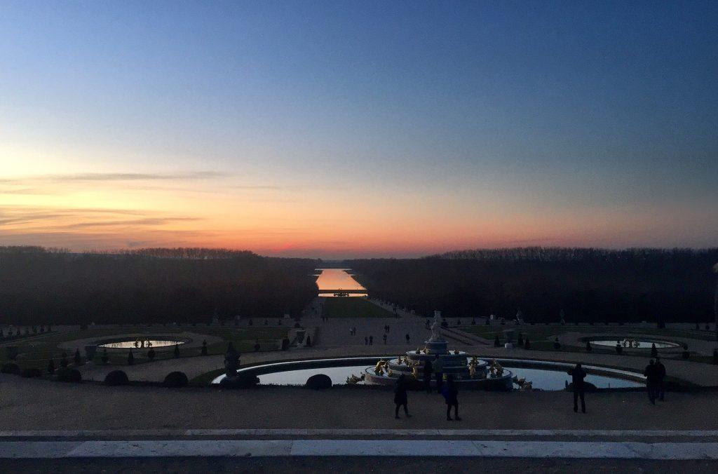 Giardini Versailles tramonto