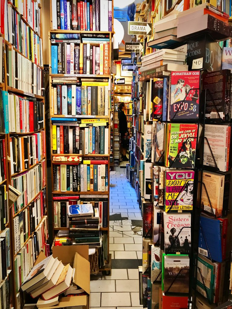 Interno abbey bookshop