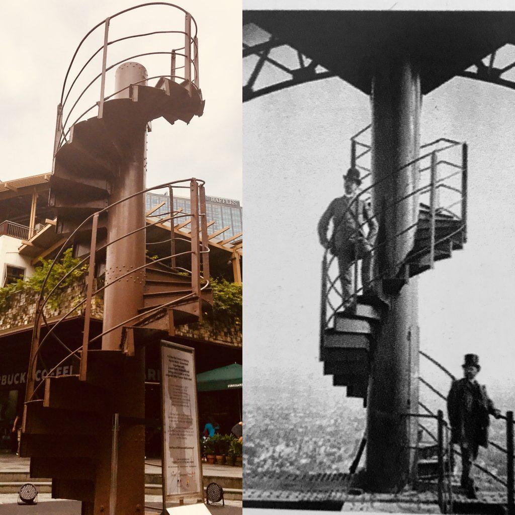 Scala Tour Eiffel ieri e oggi