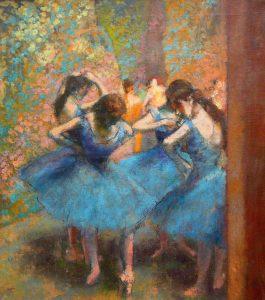 Degas, Ballerine in Blu (1895, photo from Pinterest).