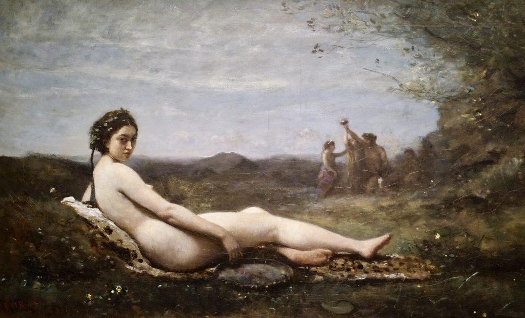 Il riposo, detto Baccante con il tamburello di Corot