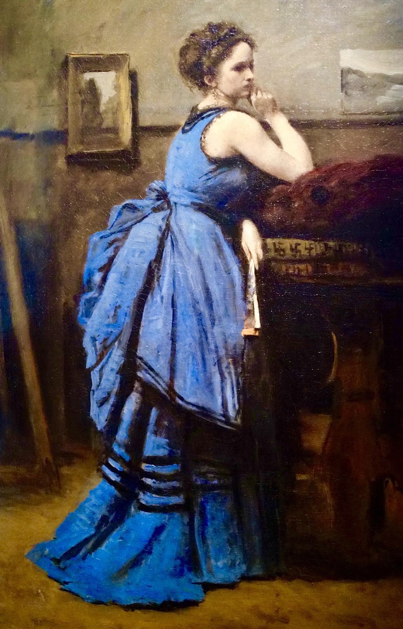 La dama in blu 1874