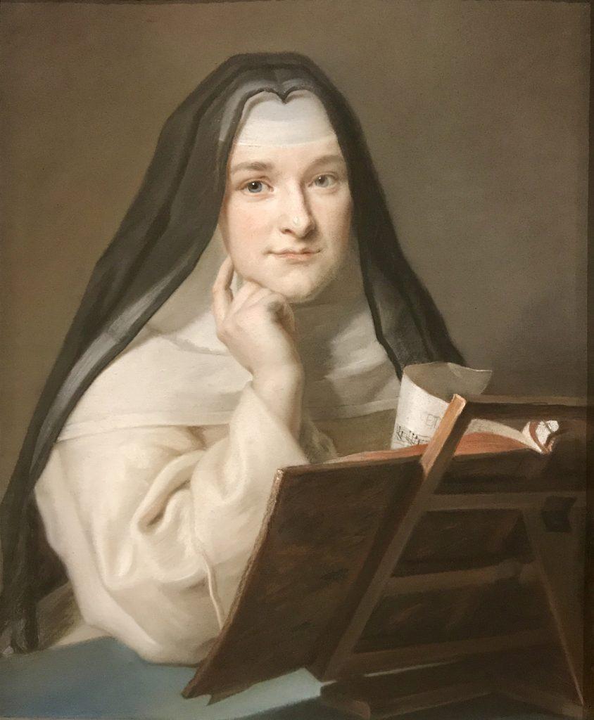 Maurice Quentin de La Tour, ritratto di religiosa. L'intensità dello sguardo della modella non è affatto comune e, certamente, l'intenzione dell'artista era quella di renderne fedelmente la luce.