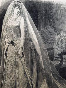 Incisione abito da sposa