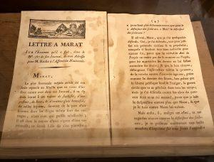 Lettera a Marat di Chauveau-Lagarde.