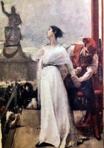 Madame Roland al patibolo