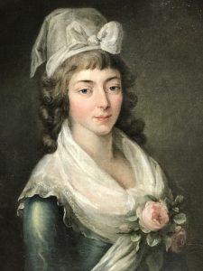 Madame Roland con una cuffia girondina