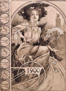 Menu del banchetto ufficiale Expo 1900
