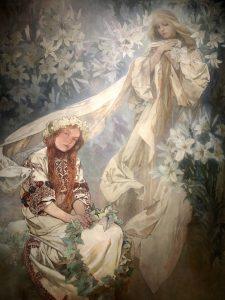 La Vergine con i Gigli Mucha
