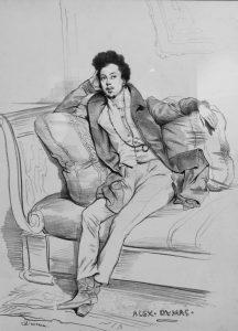 Achille Devéria, Ritratto d'Alexandre Dumas (1830, Museo nazionale Eugène Delacorix)
