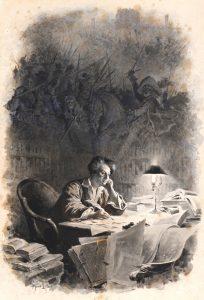Maurice Leloir, Dumas al suo tavolo di lavoro.
