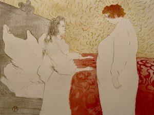 Donna a letto, profilo