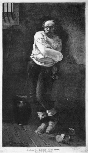 Le fou, (il folle, 1882) di André Gill