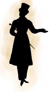 Silhouette uomo ai tempi della Restaurazione.