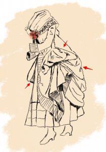 Modello di Robe retroussée dans les poches.