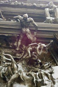 Porta inferno Rodin Dettaglio3