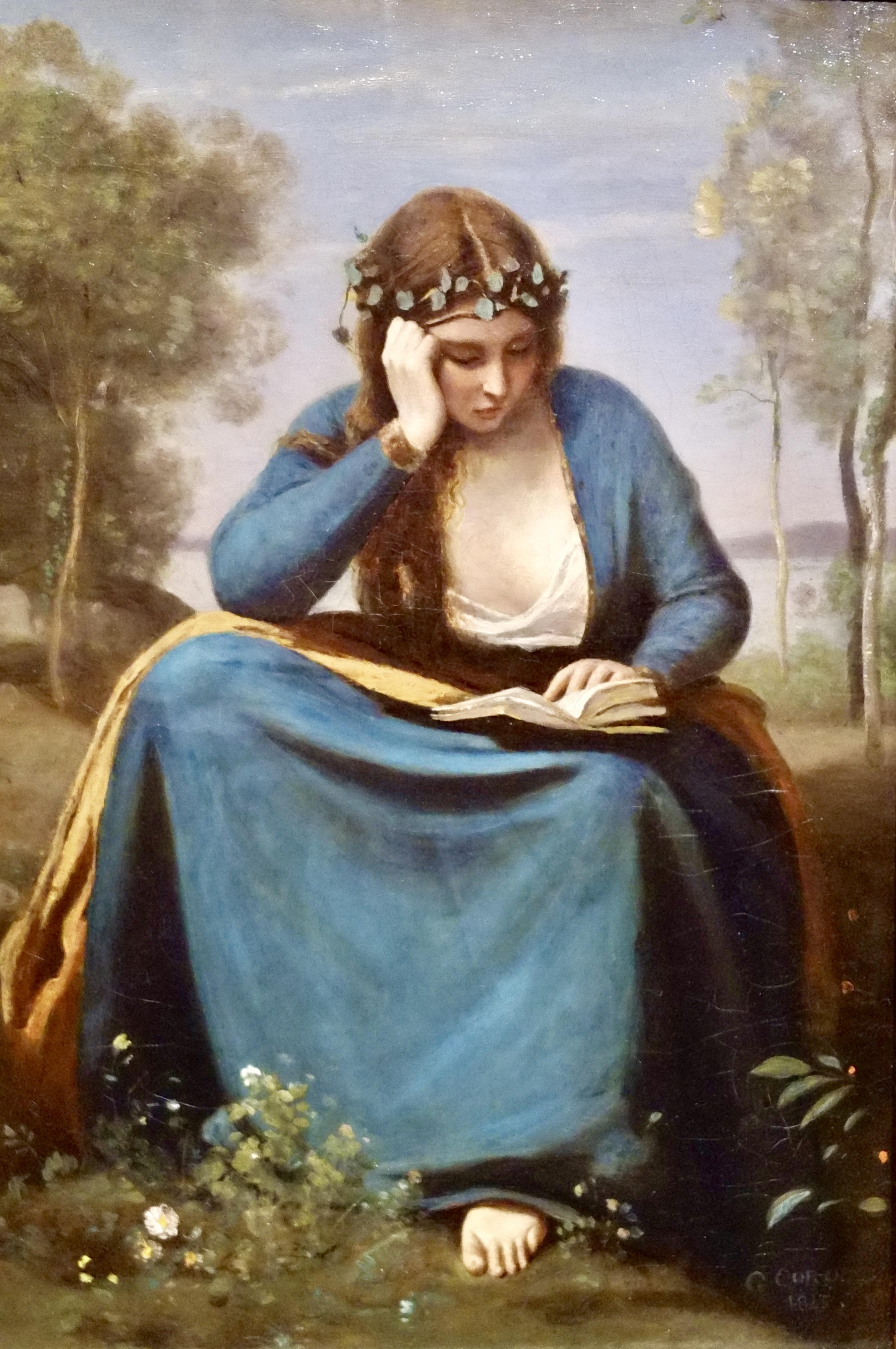 La lettrice coronata di Fiori o La Musa di Virgilio, Corot