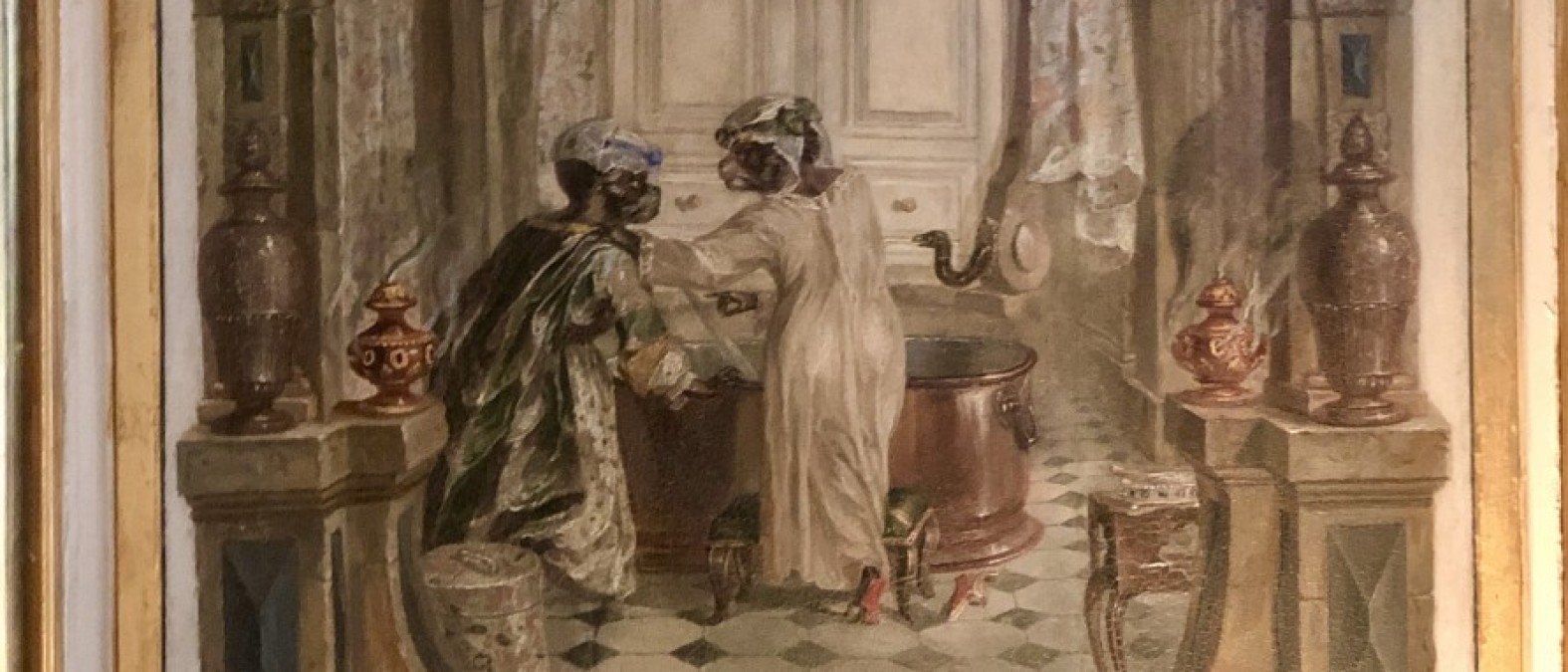 Dettaglio del boudoir-singerie